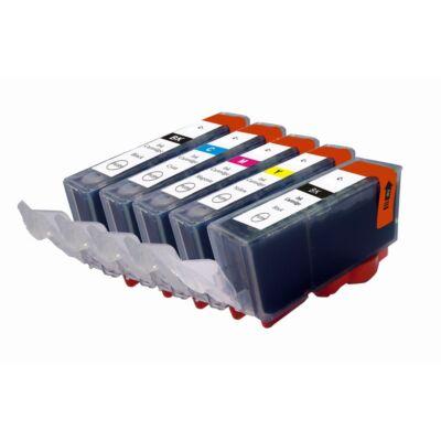 Canon PG520BK, CLI-521 utángyártott teljes tintapatron szett chippel